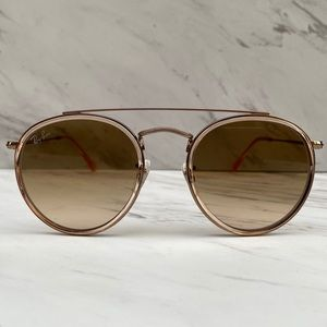 😎 Ray-Ban Round Double Bridge Bronze Brown Copper